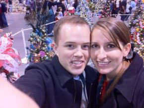 This is us volunteering at a Christmas fundraiser for children at the hospital.