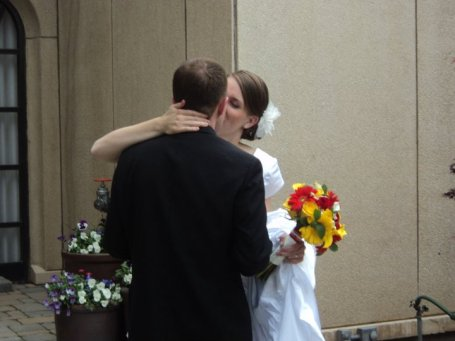 Our wedding in the Logan temple