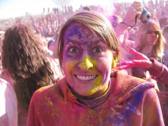 Andrea at the Festival of Colors
