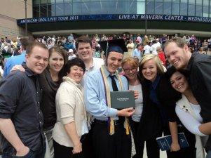 Celebrating Jake's brother's high school graduation.