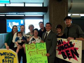 Welcoming Jake's brother home from his 2-year mission. We missed Ben!