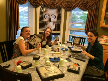Andrea gets together with her mom and sisters several times a year for craft night.