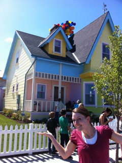 Visiting a house that was made to be an exact replica of the house in the movie UP.