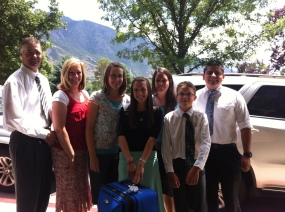 Dropping Andrea's sister off at the MTC