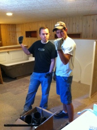 This is one of the before pictures from our basement remodel. SO GLAD it looks SO MUCH BETTER than this!