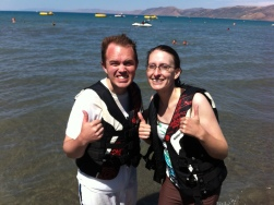 After a crazy ride on the sea-doo