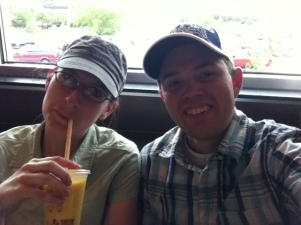 After a long hike...Fruit smoothies never tasted so good!