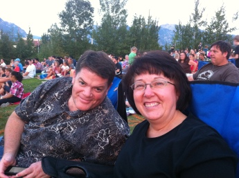 Jake's parents at a summer concert with us.