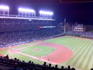 We caught a game of the Chicago Cubs while we were in town.