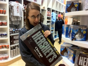 Andrea loves chocolate (especially in chocolate chip cookie form). We found this candy bar on a recent trip to Chicago.