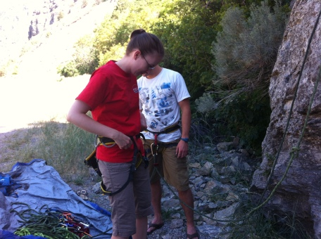 We aren't experts, but we enjoy an occasional rock climbing with Andrea's family.