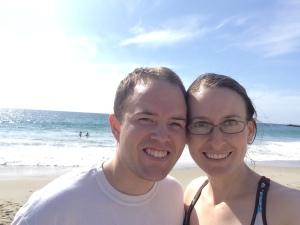 At the ocean in California