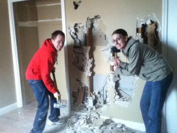 We've done a lot of remodeling on our house.... and Andrea and Jake have learned that they actually enjoy it and have some hidden talents!