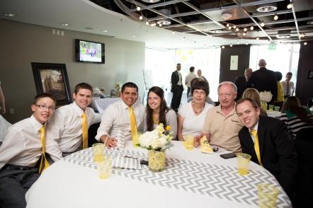 At Kelsie's and Brandt's wedding