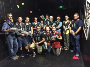 Andrea hosted a surprise laser tag party for Jake's birthday